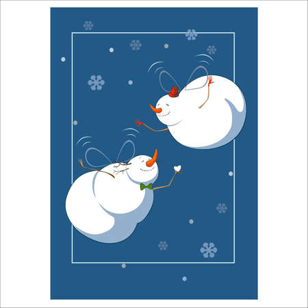 illustration of snowmen Stock Vector - 15241588