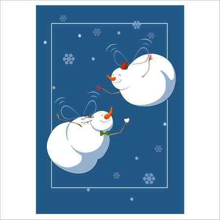 illustration of snowmen