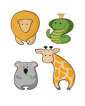 Illustration of wild animals Illustration