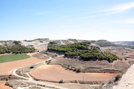 Landscape of Penafiel, Spain