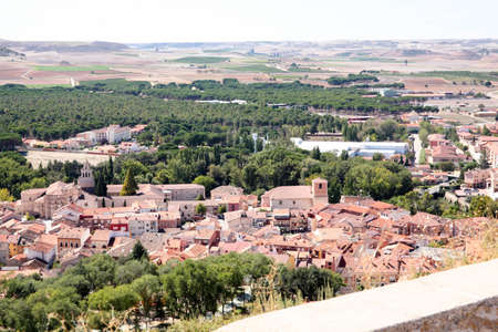 Houses in the village of Penafiel, Spain