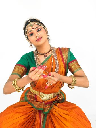 indian dance: indian classical female dancer