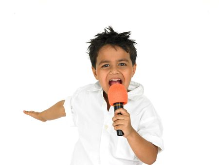 child singing: asian boy singing