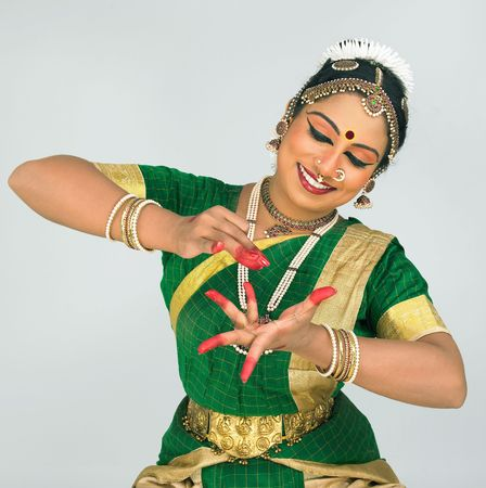 t�nzerin: klassische indische T�nzerin Lizenzfreie Bilder