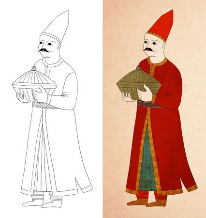 caftan: ottoman taster drawing