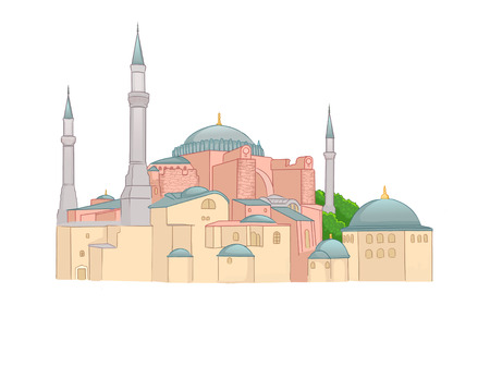 ze: an imperial mosque, and now a museum (Ayasofya Muzesi) in Istanbul, Turkey. Stock Photo
