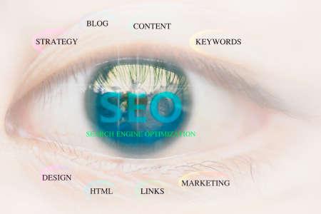 SEO Search Engine Optimization Eye background