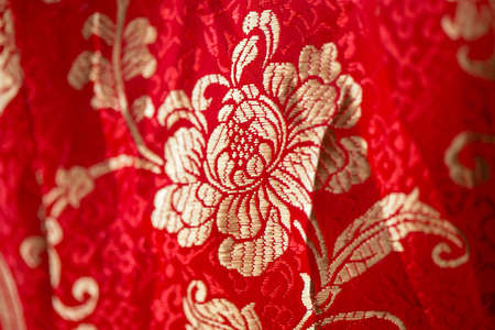Floral pattern in chinese embroidery style. Flower seamless background. Flourish ornamental garden, Background concept of Chinese New Year