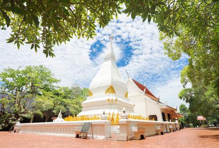 Phra That Si Song Rak (Dan Sai, Loei) , Memorial of ralationship of Thai Laos.  Phrathat the famous white pagoda has no monks living inside it is landmark of Dan Sai District, Loei Province, Thailand