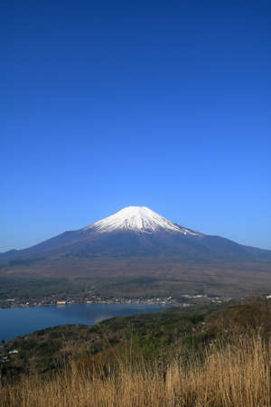 Mt. Fuji and blue sky from Mountain