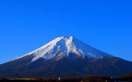 Mt.Fuji of the blue sky of winter from Fujiyoshida City, Japan 01 / 10 / 2018