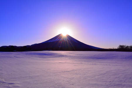 Fujigane Diamond Fuji Snowy scenery from Japan 01  26  2018