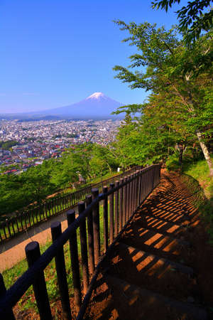 Mt.Fuji from Arakurayama Sengen Park in Fujiyoshida City Japan 05 / 18 / 2018