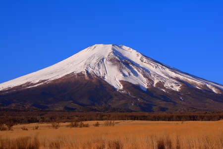02 / 03 / 2019 Japan Prefecture Yamanashi Mt.Fuji of blue sky from