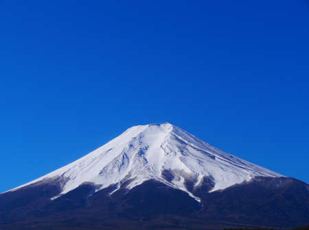 Mt. Fuji and Blue Sky from Fujiyoshida City Japan 03/06/2020 免版税图像