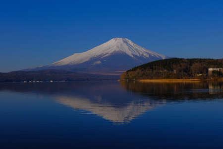 Upside down Fuji from Hirano Lake Yamanaka Japan 02/22/2021