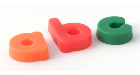 Plastic letters Stock Photo - 276055