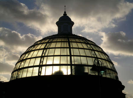 The dome of the southern end of the Greenwich Pedestrian Tunnel under the Thames in London photo