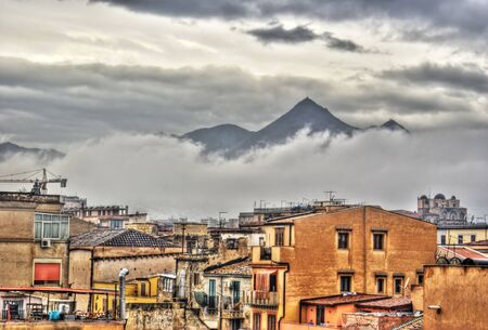 View of Palermo city in the clouds in high dynamic range  Sicily- Italy Stock Photo - 12818486