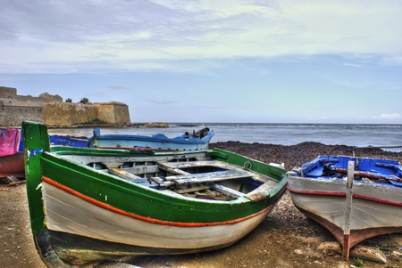 Boats in the marina of trapani in High Dynamic range  Sicily