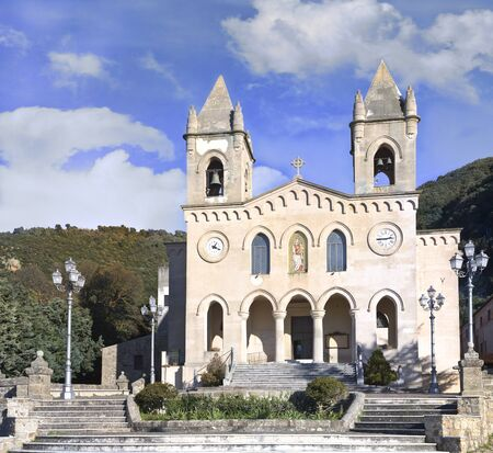 michael the archangel: The Sanctuary of Gibilmanna is a Christian shrine in the province of Palermo, Sicily, southern Italy.On the site existed a church dedicated to St. Michael Archangel. Stock Photo