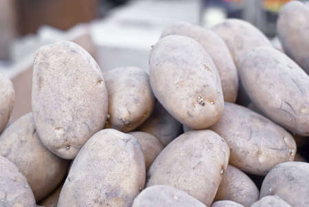 Pile of old potatoes for sale  to the market Stock Photo - 13931589