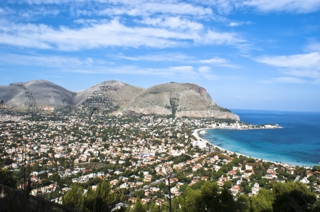 Panoramic view of the mondellos gulf. Palermo- Sicily photo