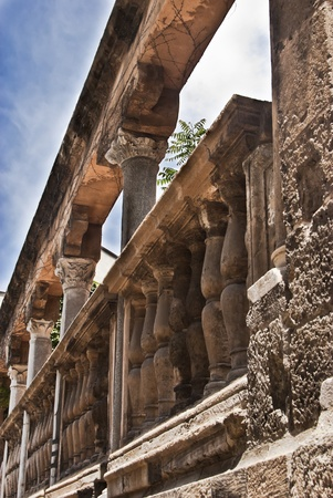 Detail of the ruins cathedral of Palermo. Sicily-Italy Archivio Fotografico