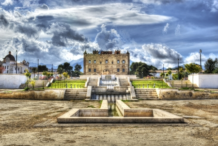 Zisa Castle in hdr. Palermo- Sicily- Italy