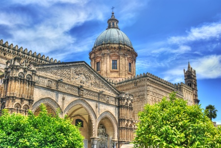 Detail of the cathedral of Palermo in High Dynamic Range.