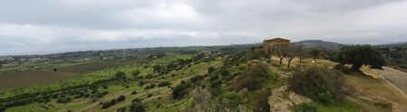 Panoramic picture of greek Temple. Agrigento.Sicily- Italy