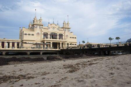 mondello: Charleston of Mondello on the beach. Palermo. Sicily- Italy Stock Photo