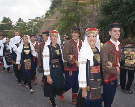 POLIZZI GENEROSA, SICILY - AUGUST 19:folk group from bosnia at the International