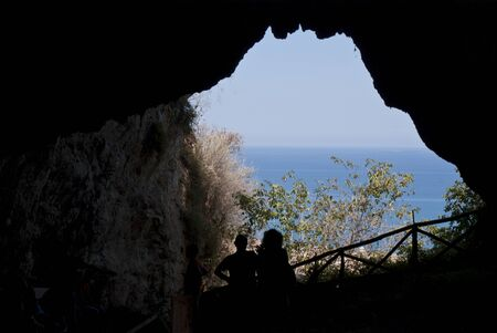 San Teodoro Cave, Acquedolci, Sicily. Here were found the fossil remains of the first woman in Sicily, which was given the name of Thea (from the Latin Theodora) to connect to the cave