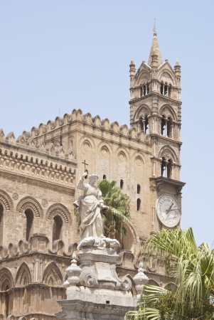 Palermo cathedral, Sicily island in Italy. Famous church.