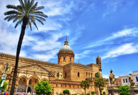 Palermo Cathedral in hdr, Sicily, Italy