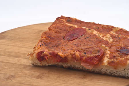 sfincione pizza, typical of palermo on wooden