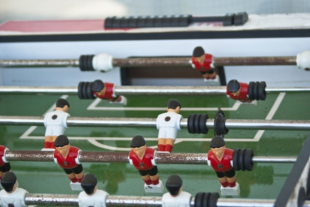 Football table game also known as foosball (calcio balilla) photo