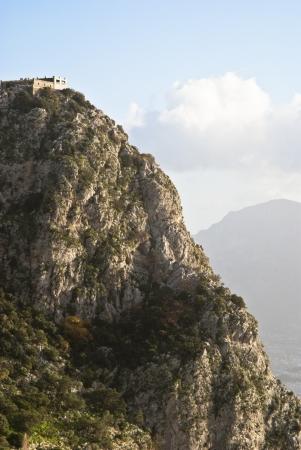 underbrush: Utveggio castle, upon Mount Pellegrino. Palermo, Sicily, Italy Editorial