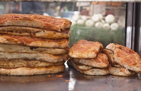sicilian: sicilian traditional pizza sfincione
