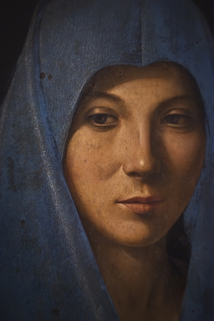 vierge marie: détail de l'd'Antonello da Messina, 1476. Abatellis palais, Palerme, Sicile