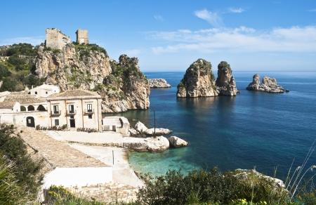 Faraglioni at Scopello with Tonnara, Sicily