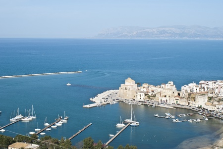 golfo: The town of Castellammare del Golfo in the province of Trapani, Sicily, Italy