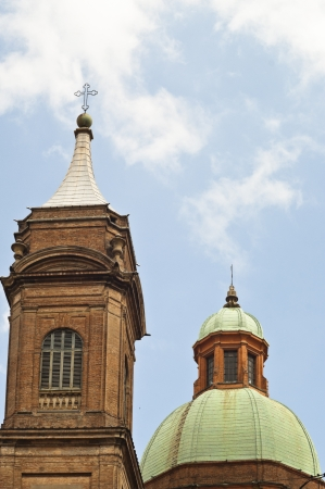 Dome near asinelli tower in Bologna, Italy photo