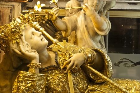 """Oro Santa Rosalia nel santuario di Santa Rosalia """"Santuzza"""", Palermo. Sicilia Archivio Fotografico - 19315989"""