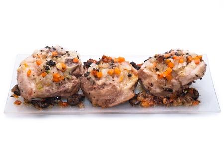Peasant Foods, ossobuco isolated on white background
