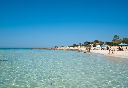 capo: beach of San Vito Lo Capo in Sicily Stock Photo