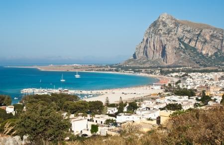 Bella Vista di San Vito Lo Capo città in Sicilia Archivio Fotografico - 20746908