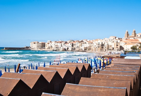 Beautiful View of Cefalu Town In Sicily photo