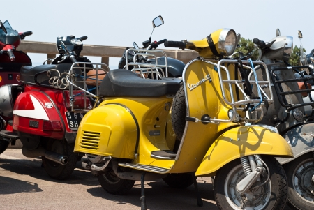 CEFALU' (PA) ITALY - MAY 27: Vespa scooters on display at scooter meeting on May 27, 2011 in Cefalu (PA) Sicily-Italy